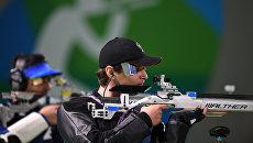Владимир Масленников на соревнованиях по пулевой стрельбе на 10 метров из пневматической винтовки среди мужчин. Архивное фото