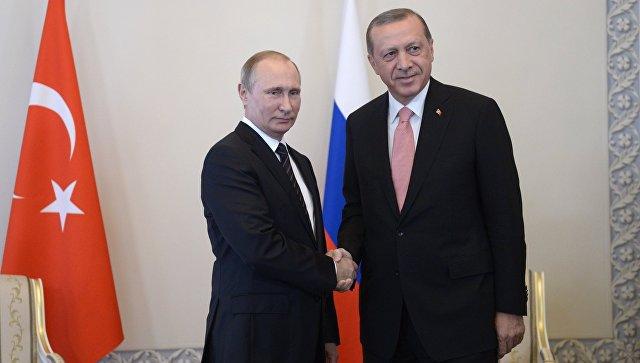 Эрдоган: Сотрудничество РФ иТурции несомненно поможет согласию многих сложностей врегионе