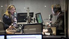 В студии радио Sputnik в Эдинбурге