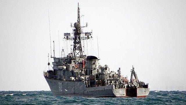 ТральщикиЧФ вышли вморе рамках учений под управлением главкома ВМФ