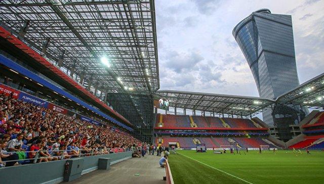 Чествование ПФК ЦСКА на новом стадионе. Архивное фото