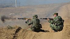 Военнослужащие мотострелковой бригады ЮВО МО РФ в Дагестане. Архивное фото