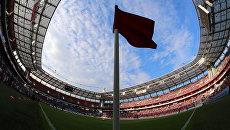 Футбольный матч на стадионе Локомотив в Москве. Архивное фото
