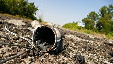 Снаряд на территории территорию Донецкой фильтровальной станции. Архивное фото