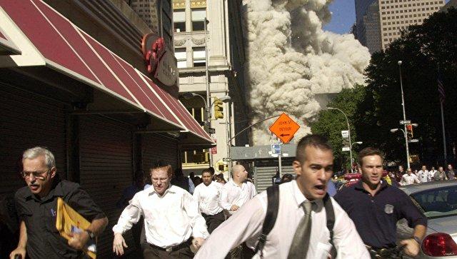 На месте теракта 11 сентября 2001 года в Нью-Йорке