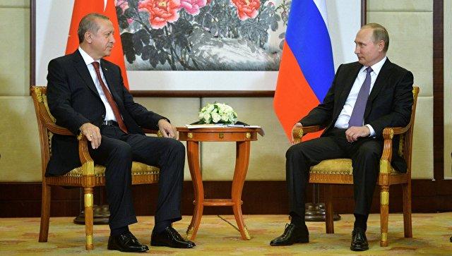 Песков сказал, очем говорили Путин иЭрдоган