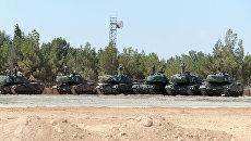 Турецкие танки недалеко от границы Сирии. Архивное фото