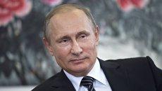 Владимир Путин на пресс-конференции по итогам саммита Группы двадцати G20 в Ханчжоу. 5 сентября 2016