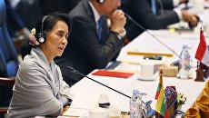 Министр иностранных дел Мьянмы Аун Сан Су Чжи. Архивное фото