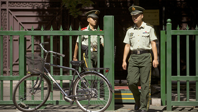 Сотрудники полиции Китая. Архивное фото
