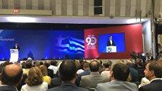 Алексис Ципрас на церемонии открытия 81-й Международной выставки в Салониках, где Россия является почетным гостем