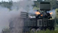 Зенитный ракетно-пушечный комплекс 96К6 Панцирь-С1. Архивное фото
