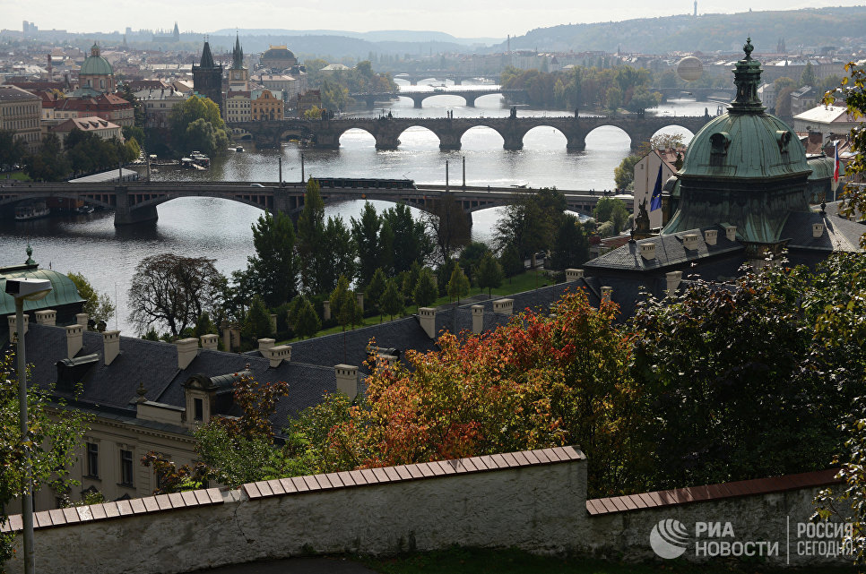 Вид на Прагу со смотровой площадки