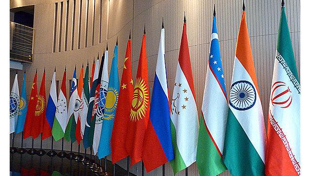 Флаги стран-участниц ШОС. Архивное фото