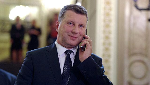 Президент Латвии Раймонд Вейонис. Рига, июнь 2015. Архивное фото