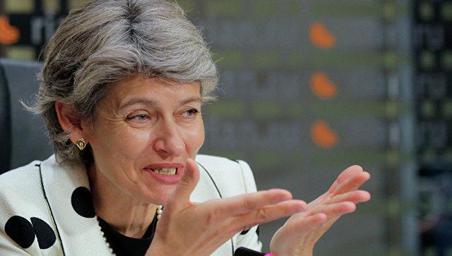 Генеральный директор ЮНЕСКО Ирина Бокована пресс-конференции в РИА Новости