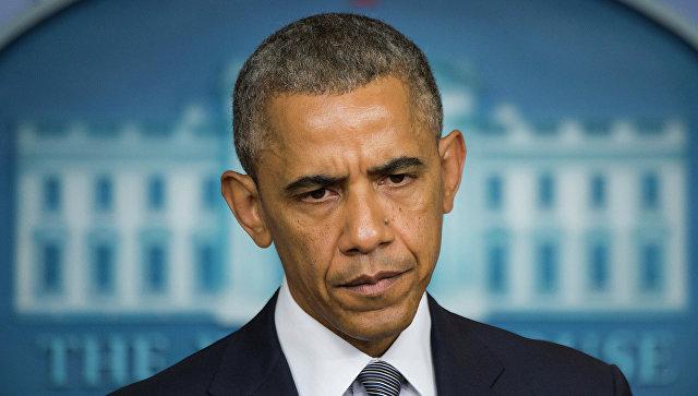 Президент США Барак Обама во  время выступления в Белом доме, Вашингтон. Архивное фото