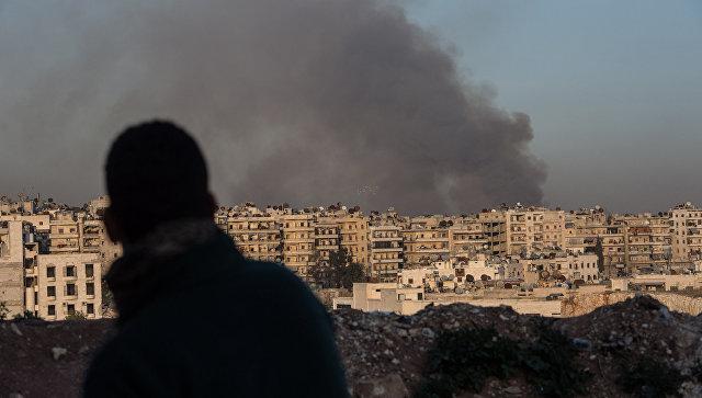 Обстрел в Сирии. Архивное фото