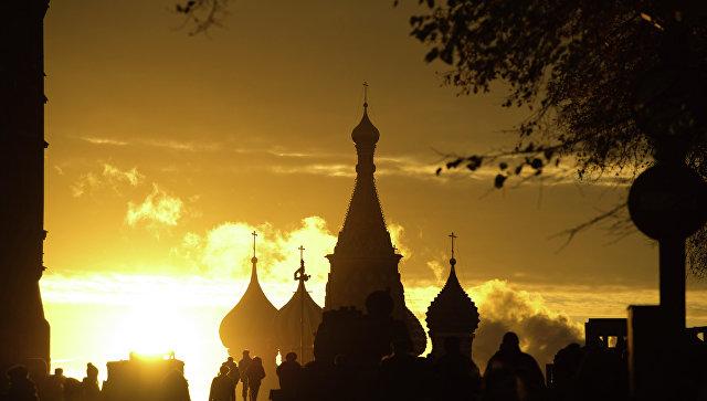 Вид на Собор Василия Блаженного на Красной площади