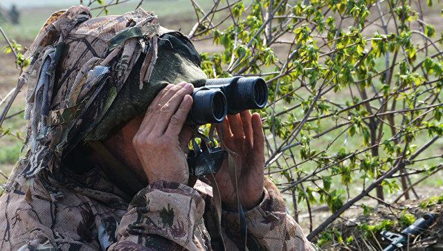 Военнослужащий на наблюдательном посту в Луганской народной республике. Архивное фото