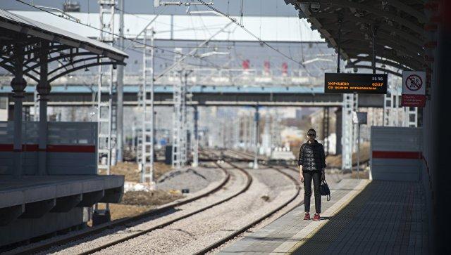 Станция Шелепиха Малого кольца Московской железной дороги. Архивное фото