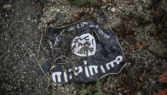 Флаг радикальной исламистской организации Исламское государство Ирака и Леванта. Архивное фото
