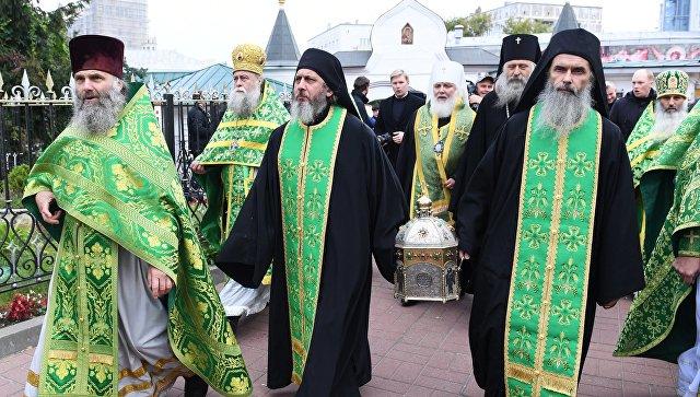 Мощи святого Силуана Афонского были привезены в столицуРФ