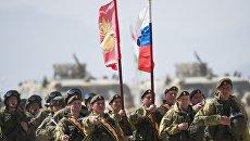 Военнослужащие российской армии во время международных антитеррористических учений ШОС Мирная миссия — 2016