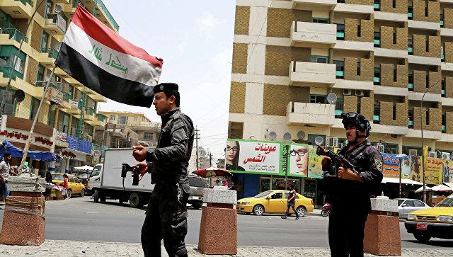 Иракская полиция после захвата боевиками провинции Мосул