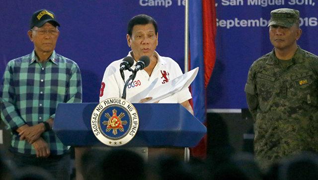 Президент Филиппин послалЕС кчерту— продление концерта