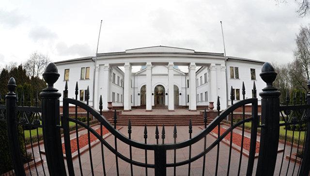 Правительственная резиденция на Войсковом переулке в Минске. Архивное фото