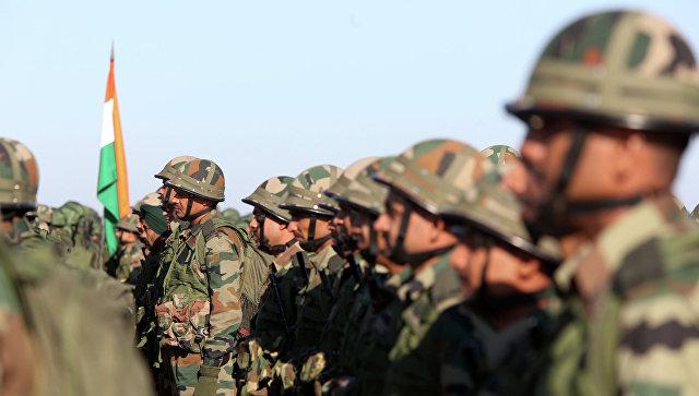 Индийские военнослужащие на совместных российско-индийских учениях. Архивное фото