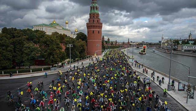 Осенний велопарад в Москве. Архивное фото