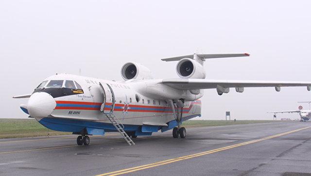 Самолет-амфибия вылетел изХабаровска вСибирь натушение пожаров