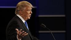 Кандидат в президенты США республиканец Дональд Трамп. 27 сентября 2016 год