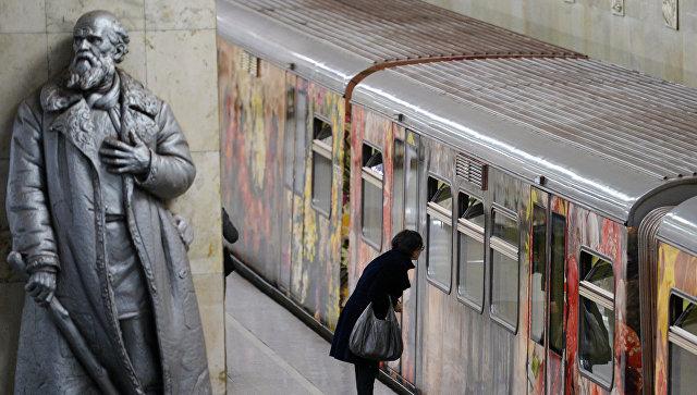 Запуск поезда Акварель с обновлённой экспозицией Город в живописи