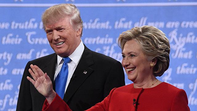 Кандидаты в президенты США Хиллари Клинтон и Дональд Трамп. Архивное фото