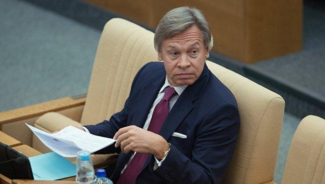 Экс-глава международного комитета Госдумы, сенатор Алексей Пушков. Архивное фото