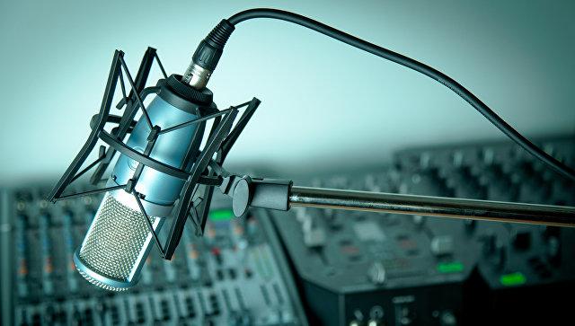 Студийный микрофон. Архивное фото