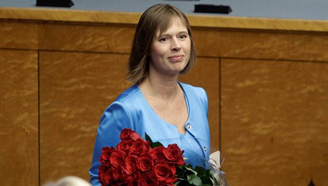 Избранный президент Эстонии Керсти Кальюлайд. 3 октября 2016 года