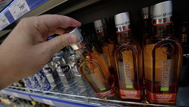 Бутылки с алкогольной продукцией. Архивное фото
