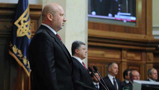 Секретарь Совета нацбезопасности и обороны Украины  Украины Александр Турчинов. Архивное фото