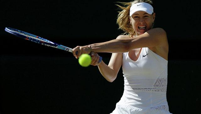 Российская теннисистка Мария Шарапова в матче против Серены Уильямс. Архивное фото
