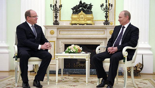 Путин назвал князя Монако АльбераII «хорошим другом России»