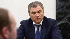 Председатель Государственной Думы РФ Вячеслав Володин.Архивное фото