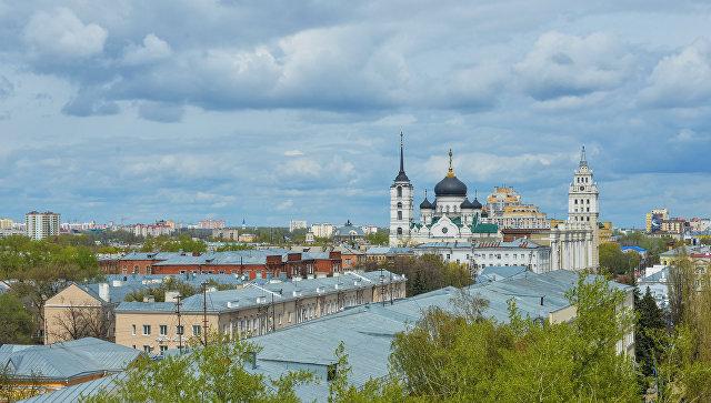 Вид на центральную часть города Воронеж