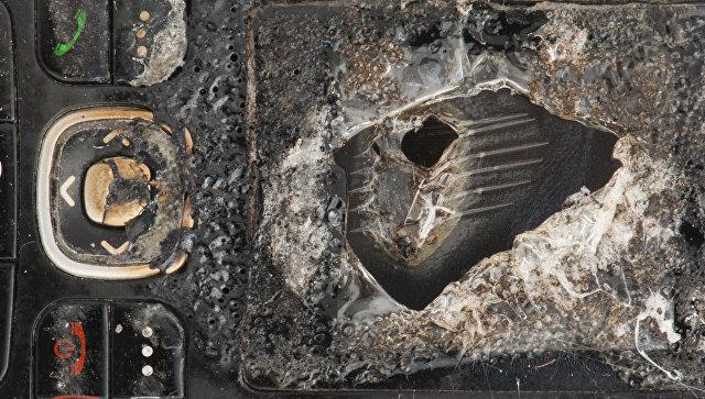 Сгоревший мобильный телефон