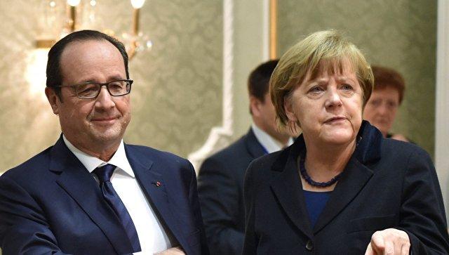 Порошенко договорился созвониться сМеркель иОлландом