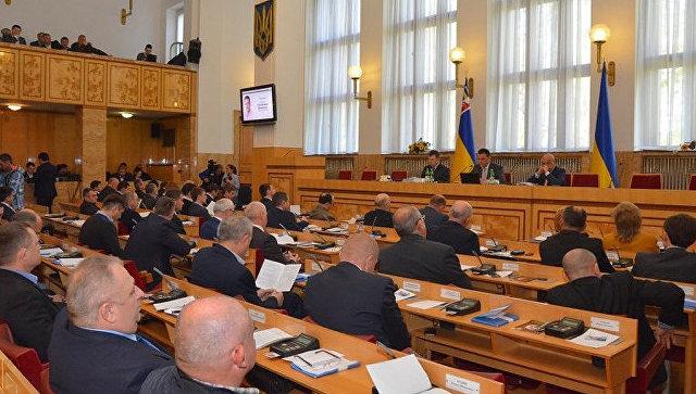 Заседание Областного совета Закарпатской области. Архивное фото