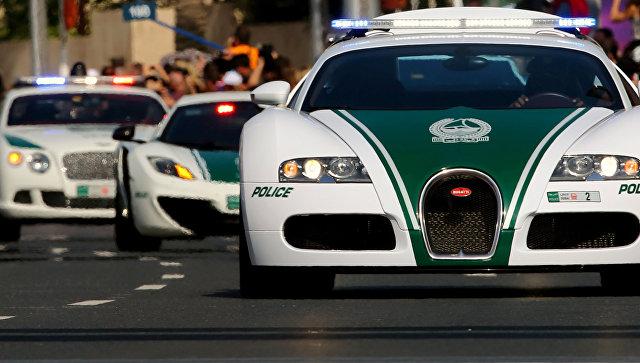 Автомобили Bugatti, Lamborghini и Bentley полиции Дубая, ОАЭ. Архивное фото